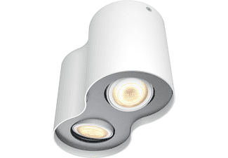 PHILIPS LED Spot Hue White Ambiance Pillar 2-er Spot inkl. Dimmschalter, weiß