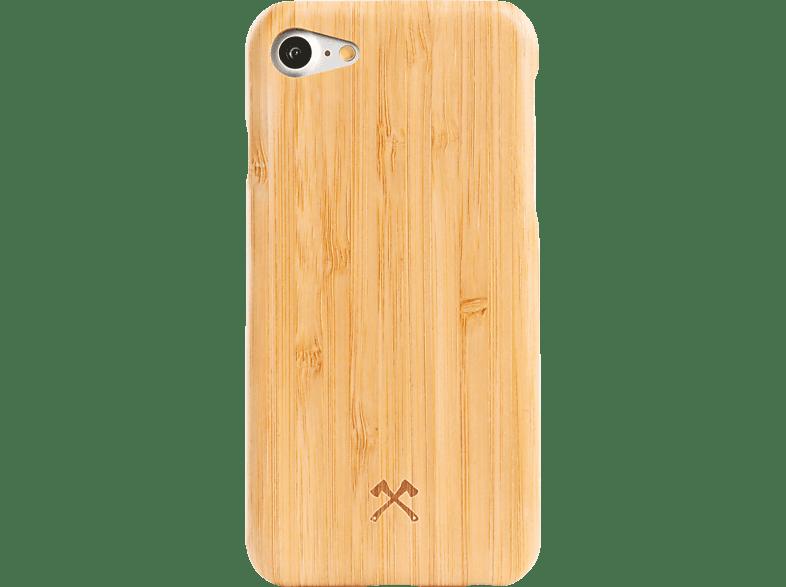 WOODCESSORIES EcoCase Slim Case , Backcover, Apple, iPhone 7, iPhone 8, Bambus Echtholz/Kevlar, Bambus/Schwarz