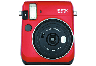 Cámara instantánea - Fujifilm Fuji Instax Mini 70 Re, Pantalla LCD, Modo selfie, Rojo