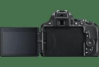 NIKON D5600 Kit Spiegelreflexkamera, 24.2 Megapixel, Full HD, 18-55 mm Objektiv (AF-P, DX, VR), Touchscreen Display, WLAN, Schwarz