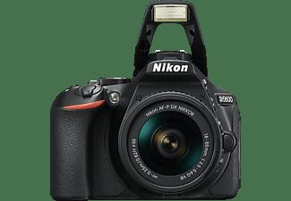NIKON D5600 Kit Spiegelreflexkamera, Full HD, 18-55 mm Objektiv (AF-P, DX, VR), Touchscreen Display, WLAN, Schwarz