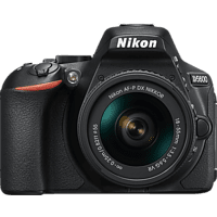 NIKON D5600 Kit Spiegelreflexkamera, 24.2 Megapixel, Full HD, 18-55 mm Objektiv (AF-P, DX, VR), Touchscreen Display, WLAN, Schwarz