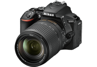 NIKON D5600 Kit Spiegelreflexkamera, 24.2 Megapixel, Full HD, 18-140 mm Objektiv (AF-S, ED, DX, VR), Touchscreen Display, WLAN, Schwarz