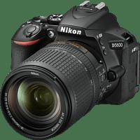 NIKON D5600 Kit Spiegelreflexkamera, 24.2 Megapixel, Full HD, 18-140 mm Objektiv (AF-S, ED, DX, VR), Touchscreen Display, WLAN, Schwarz