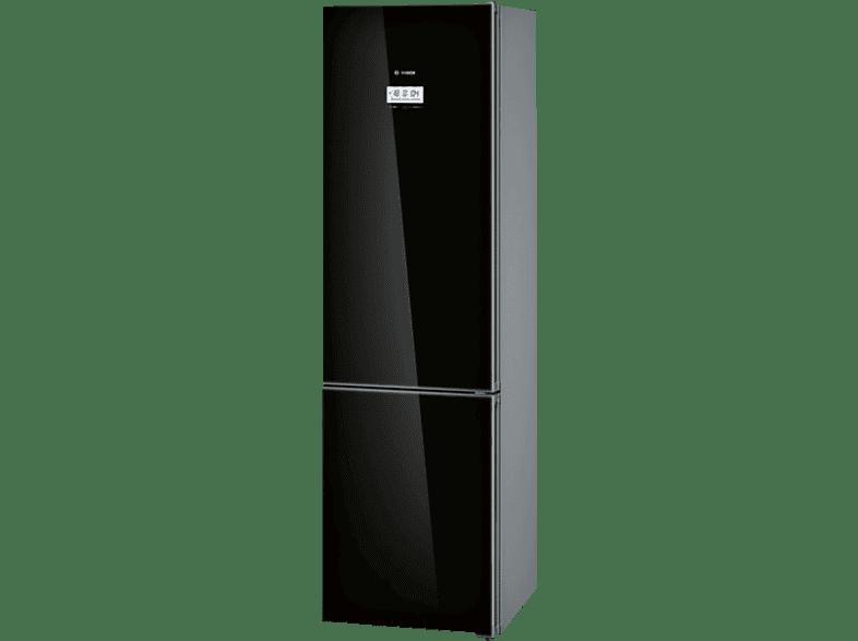 BOSCH KGF39SB45  Kühlgefrierkombination (A+++, 180 kWh/Jahr, 2030 mm hoch, Schwarz)