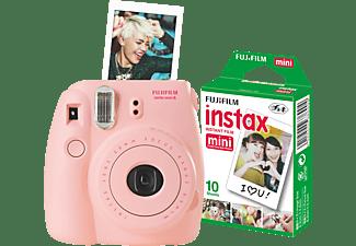 FUJIFILM Instax Mini 8 + Film Sofortbildkamera, Pink