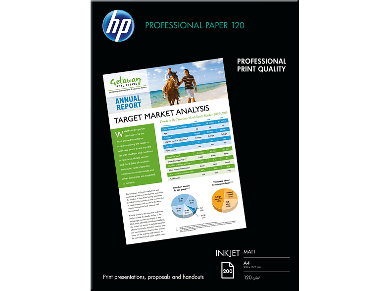 HP Q 6593 A Professional Inkjet-Papier matt 210 x 297 mm  A4 200x Blatt im Format 210 x 297 mm