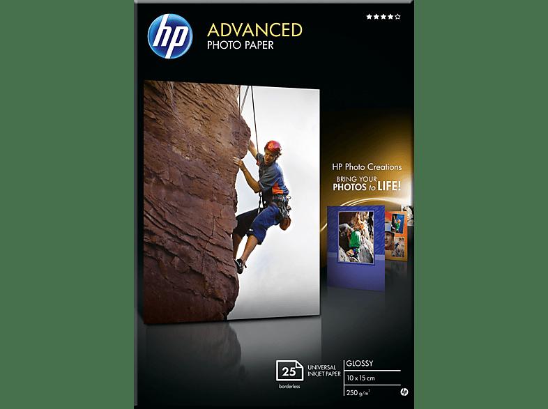 HP Q 8691 A Fotopapier glänzend, randlos 100 x 150 mm   25x Blatt im Format 100 x 150 mm