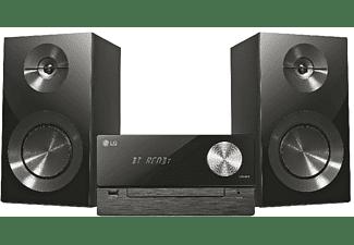 Microcadena - LG CM2460, Bluetooth, USB, 100 W, CD, Negro