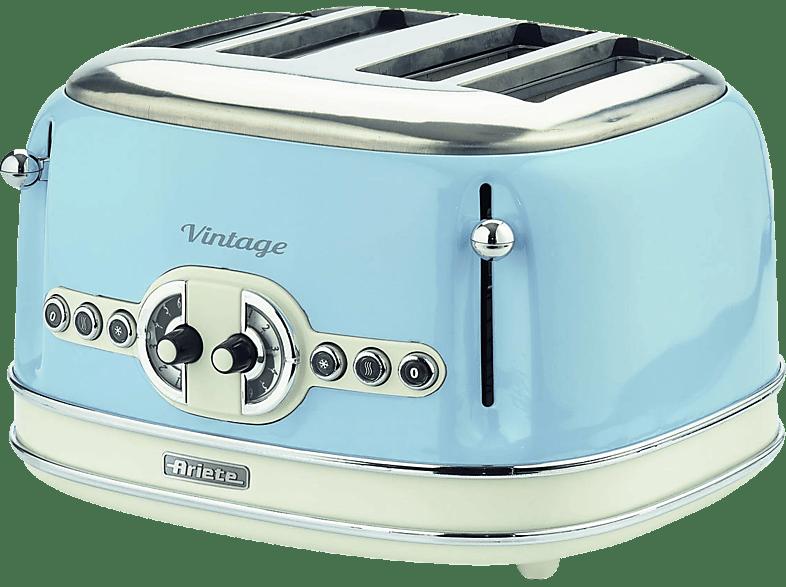 ARIETE 00C015605AR0 Toaster Creme/Hellblau (1600 Watt, Schlitze: 4)