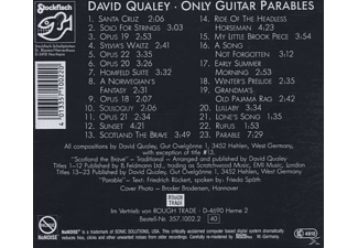 David Qualey - Only Guitar Parables  - (CD)
