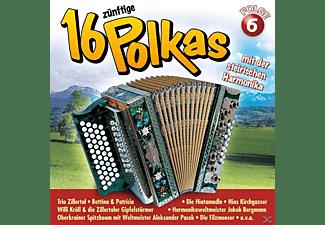 VARIOUS - 16 Zünftige Polkas Mit Der Steirischen Harmonika 6  - (CD)