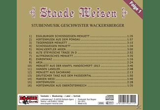 Geschwister Wackersberger - Staade Weisen  - (CD)