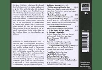 CAMERATA VOCALE GUMMERSBACH/WALDHOR, Anton/Camerata Vocale/+ - Hubertusmesse/+  - (CD)
