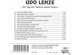 Udo Lenze - Am Tag des Namens meines Vaters  - (CD)