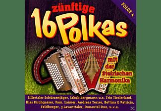 VARIOUS - 16 Zünftige Polkas Mit Der Steirischen Harmonika 4  - (CD)