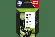 HP 302 Tintenpatrone Schwarz/Cyan/Magenta/Gelb (X4D37AE)