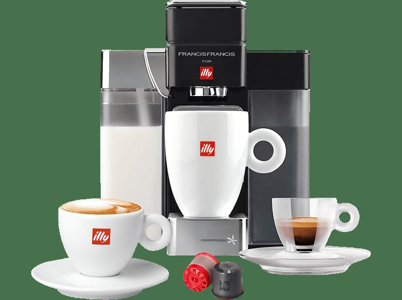 FRANCIS-FRANCIS 60234 Y5 Milk ESPRESSO & COFFEE Kapselmaschine Schwarz
