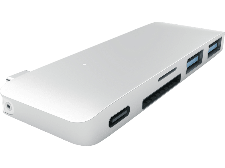 SATECHI PASSTHROUGH, USB Typ-C Hub, Silber