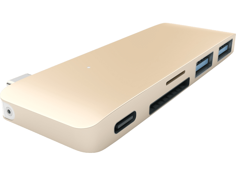 SATECHI PASSTHROUGH , USB Typ-C Hub, Gold