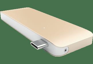 SATECHI PASSTHROUGH  USB Typ-C Hub, Gold