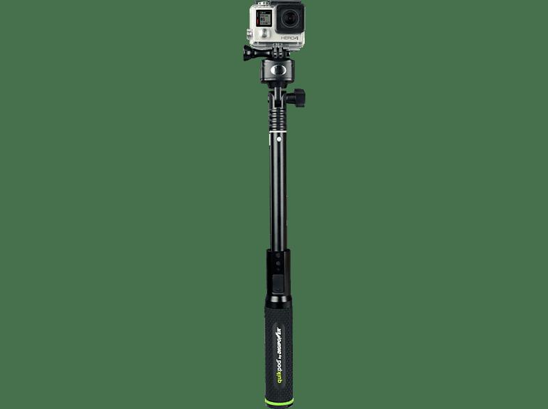 RE-FUEL RF-QPPWR, Selfie Stick, Schwarz, passend für GoPro Hero 3, 3+, 4