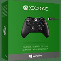 MICROSOFT Xbox Controller + Cable for Windows Controller Schwarz
