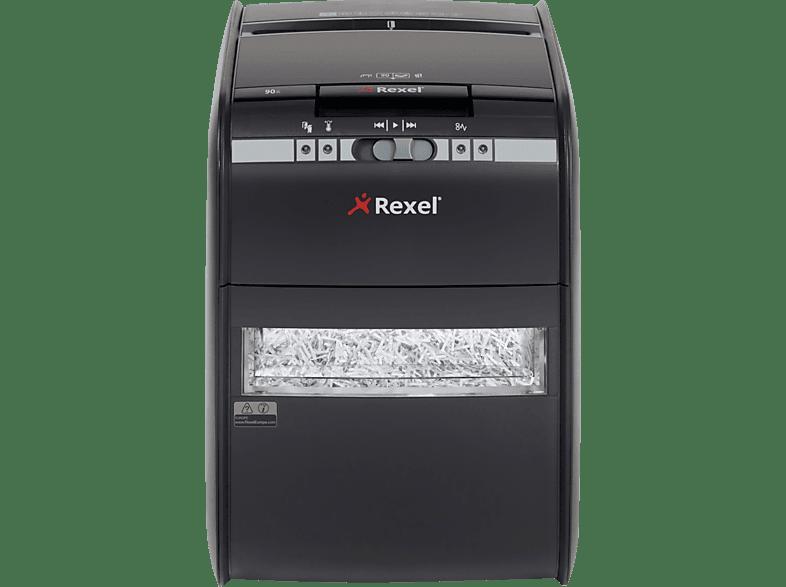 REXEL Auto+ 90X, Automatische Papierzuführung, Partikelschnitt, Sicherheitsstufe P-3 Automatischer Aktenvernichter, schwarz