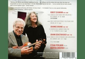 Martha Argerich, Itzhak Perlman - Schumann/Bach/Brahms  - (Vinyl)
