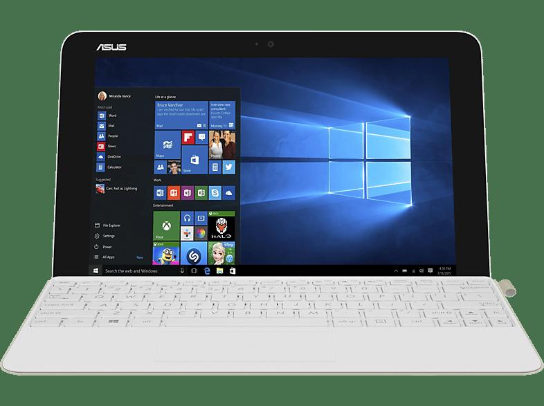 ASUS T102HA-GR015T, Convertible mit 10.1 Zoll Display, Atom™ Prozessor, 4 GB RAM, 64 GB eMMC, HD-Grafik 400, Pearl White/Gold Dock