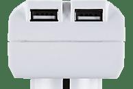 HAMA USB Steckdosenadapter, Weiß