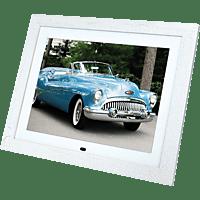 BRAUN PHOTOTECHNIK DigiFrame 15 Vintage Digitaler Bilderrahmen, 38,1 cm, 1.024 x 768 Pixel, Weiß