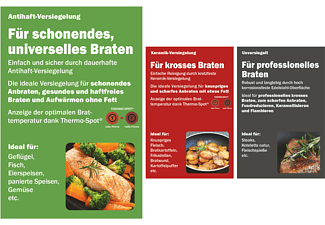 TEFAL E85606 Jamie Oliver Bratpfanne (Edelstahl, Beschichtung: PTFE, 280 mm)