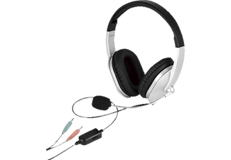 ISY IHS-1001 - Cuffie con microfono (Wired, Binaurale, On-ear, Nero/grigio)