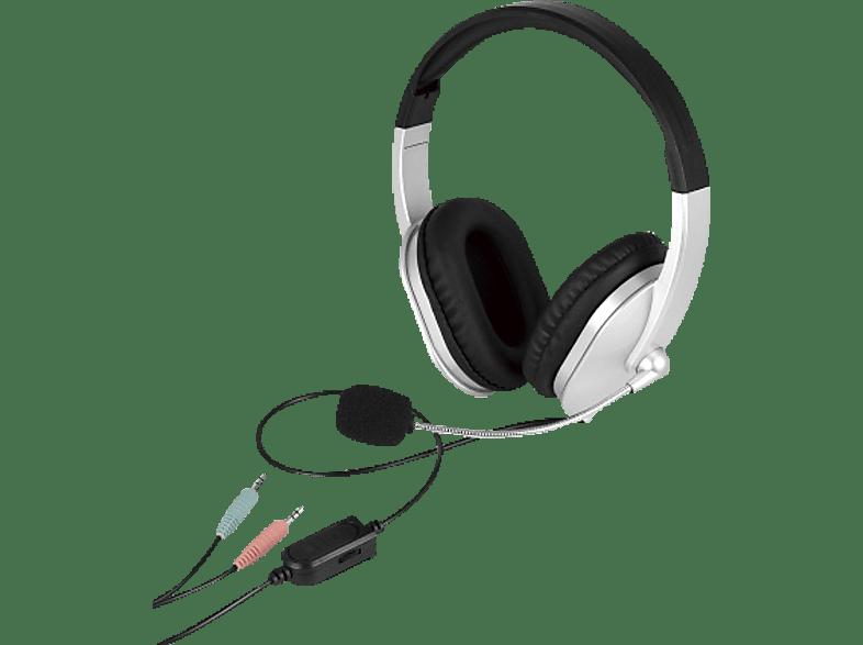 ISY PC-Headset, schwarz-grau PC-Headset Schwarz/Grau