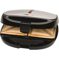 CLATRONIC ST/WA 3670 Sandwichmaker Schwarz/Edelstahl