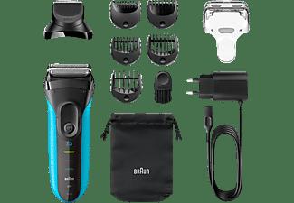 BRAUN Series 3 Shave&Style - 3010BT Rasierer Schwarz/Blau (Wet & Dry)