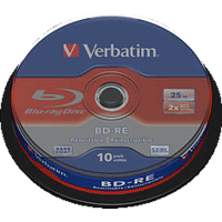 VERBATIM 43694 BD-RE Single 2X 25GB Rohling