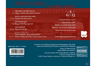 ST. GEORGE QUINTET - British Legends  - (CD)