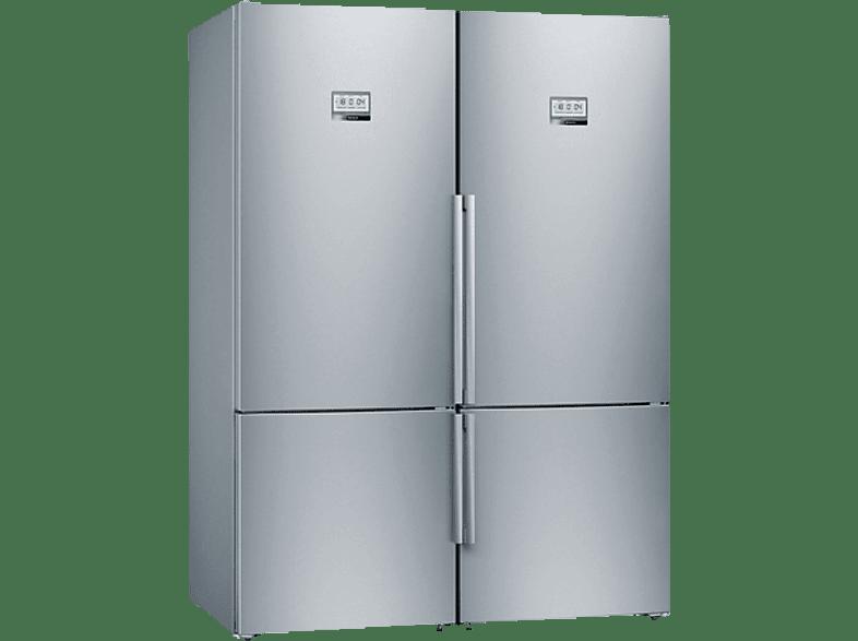 BOSCH KYF56PI4P (KGF56PI40+KGF56PI40+KSZ39AL00)   Side-by-Side (216 kWh/Jahr, A+++, 1930 mm hoch, Edelstahl)