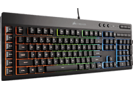 CORSAIR K55 RGB, Gaming Tastatur, Rubberdome