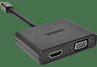 SITECOM CN 347 DisplayPort zu HDMI/VGA 2-in-1 Adapter, Schwarz
