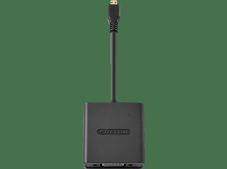 SITECOM CN 355 Micro-HDMI zu VGA + Audio Adapter