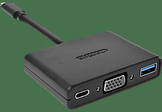 SITECOM CN 364 USB-C zu USB+VGA+USB-C3-IN-1, Adapter