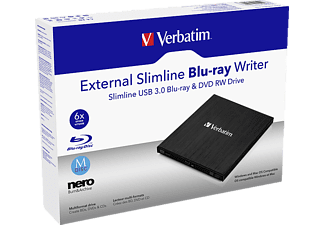 VERBATIM 43890 Slimline extern Blu-Ray Brenner
