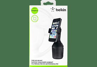 BELKIN Cup Mount, Universal Autohalterung für Kfz-Getränkehalter, Geräte bis 8,4cm Breite KFZ-Halterung, Schwarz
