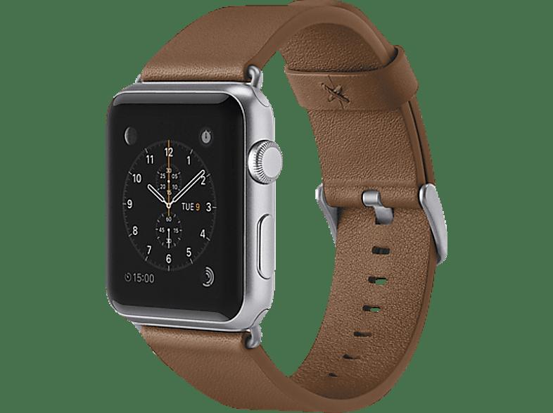 BELKIN Lederband, Uhrenarmband, Apple, Watch (38 mm Gehäuse), Braun