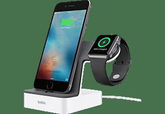 BELKIN Apple Watch + iPhone Duo Ladestation, Weiß Ladestation Apple, Weiß
