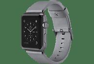 BELKIN Lederband, Uhrenarmband, Apple, Watch (42 mm Gehäuse), Grau
