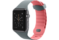 BELKIN Silikonband, Uhrenarmband, Apple, Apple Watch 42mm, Grau/Pink